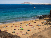 Playa del Pozo, Lanzarote, Canary Islands Royalty Free Stock Image