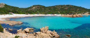 Playa del Principe. Beach on Emerald coast in North of Sardinia, Italy Stock Image