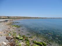 Playa del Punta Etinas Sabinar del EL Ejido Almeria Andalusia Spain foto de archivo libre de regalías