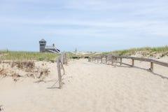 Playa del punto de la raza Imagen de archivo