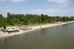 Playa del río en Novi Sad, Serbia Imagen de archivo