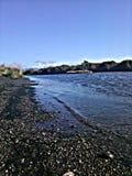 Playa del río Mad Fotos de archivo