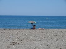 Playa del San Miguel Poniente del EL Ejido Almeria Andalusia Spain imagen de archivo libre de regalías