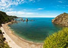 Playa del Silencio, Asturias, Spanien Arkivbilder