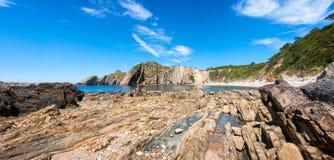 Playa del Silencio, Asturie, Spagna Fotografia Stock Libera da Diritti
