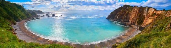 Playa Del Silencio in Cudillero Asturien Spanien lizenzfreies stockbild