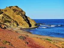 Playa del Sombrerico de Mojacar Almeria Andalusia Spain foto de archivo