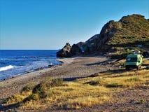 Playa del Sombrerico de Mojacar Almeria Andalusia Spain fotos de archivo