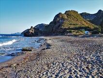 Playa del Sombrerico de Mojacar Almeria Andalusia Spain imagenes de archivo