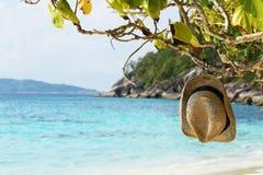 Playa del sombrero. Imagen de archivo libre de regalías