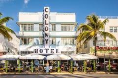 Playa del sur Art Deco Ocean Drive Imagenes de archivo