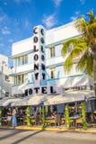 Playa del sur Art Deco Ocean Drive Imagen de archivo libre de regalías