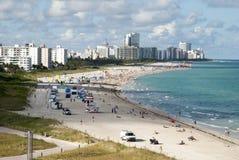 Playa del sur de Miami Fotos de archivo libres de regalías