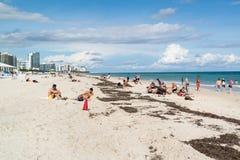 Playa del sur de Miami, la Florida Fotografía de archivo libre de regalías
