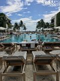 Playa del sur de Ritz Carlton fotos de archivo