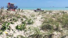 Playa del sur Miami después del huracán Irma almacen de video