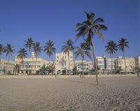 Playa del sur Miami, districto del art déco de la Florida Imágenes de archivo libres de regalías