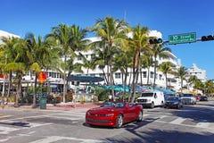 Playa del sur Miami, la Florida Fotos de archivo libres de regalías