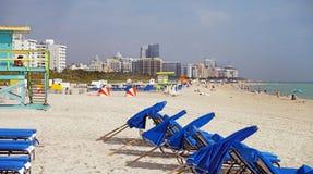 Playa del sur Miami, la Florida Imagenes de archivo
