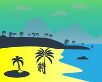Playa del sur del verano Foto de archivo libre de regalías
