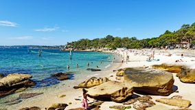Playa del tiburón, Nielsen Park, Vaucluse, Sydney, Australia imagen de archivo