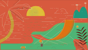 Playa 02 del verano ilustración del vector