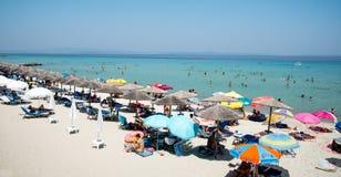 Playa del verano de Chalkidiki Fotos de archivo