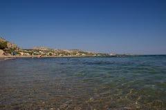Playa del verano de Rhodos Grecia Foto de archivo libre de regalías