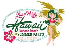 Playa del verano del partido de Luau Imagenes de archivo