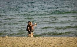 Playa del verano en Pattaya, Tailandia Imágenes de archivo libres de regalías