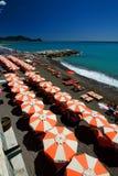 Playa del verano Lavagna Liguria Italia Fotos de archivo