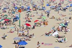 Playa del verano, punta de la reunión de la fresa Foto de archivo libre de regalías