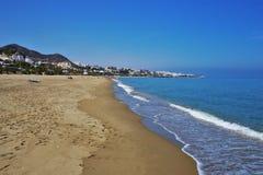 Playa del Vetanicas de Mojacar Almeria Andalusia Spain fotos de archivo