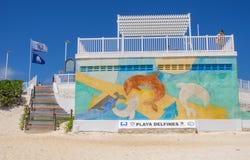 Playa delfines,坎昆-墨西哥 免版税库存图片