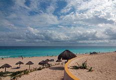 Playa Delfines Public Beach at Cancun Mexico Royalty Free Stock Image