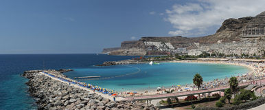 Playa des Amadores , Gran Canaria , Canary islands Stock Photos
