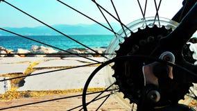 Playa detrás de la bici