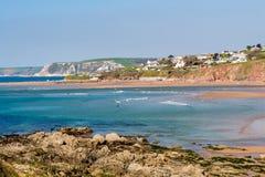 Playa Devon de Bantham imágenes de archivo libres de regalías