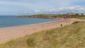 Playa Devon England del sur Reino Unido de Thurlestone Imagenes de archivo