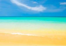 Playa dichosa Fotos de archivo libres de regalías