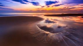 Playa dinámica Imagen de archivo libre de regalías