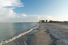 Playa dominante de la arena, Clearwater, la Florida, los E.E.U.U. fotos de archivo