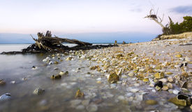 Playa dominante del pabellón fotos de archivo libres de regalías