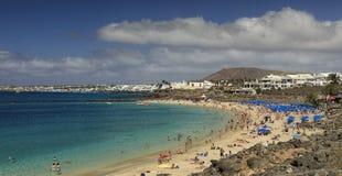 Playa Dorada在兰萨罗特岛 库存照片