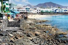 Playa Dorada στο BLANCA Playa, Lanzarote Στοκ Εικόνα