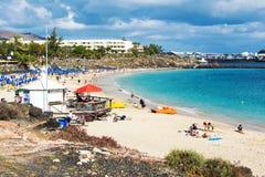 Playa Dorada στο BLANCA Playa, Lanzarote Στοκ φωτογραφίες με δικαίωμα ελεύθερης χρήσης
