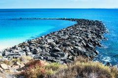 Playa Dorada στο BLANCA Playa, Lanzarote Στοκ Φωτογραφίες