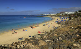 Playa Dorada i Lanzarote Arkivbilder