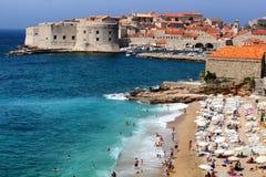 Playa Dubrovnik Croacia de Banje Foto de archivo libre de regalías