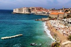 Playa Dubrovnik Croacia de Banje Imagen de archivo